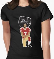 Colin Kaepernick Kneeling - I'm With Kap Women's Fitted T-Shirt