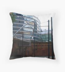 Tram lines Throw Pillow