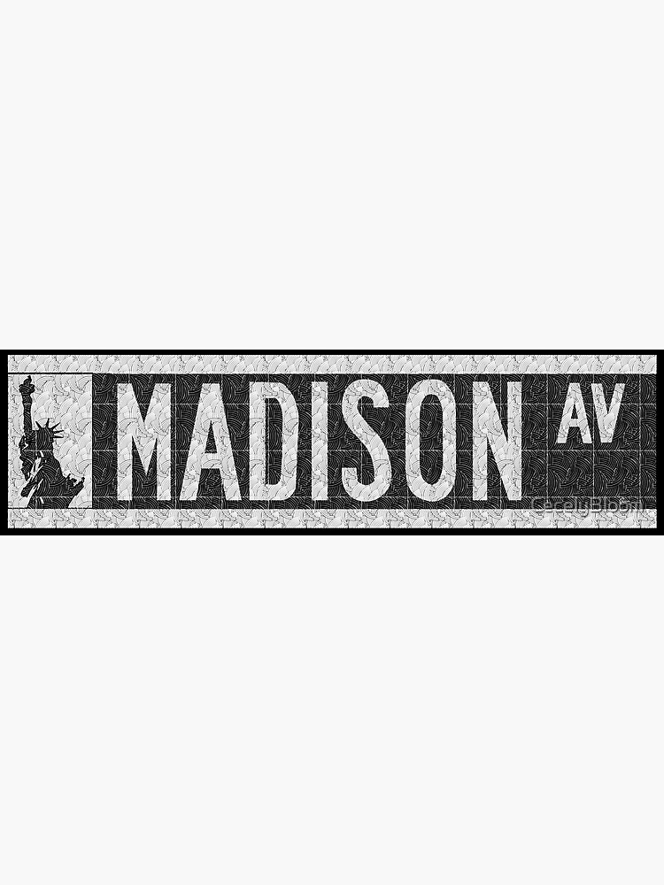 Madison Avenue NYC Pop Art Deco Straßenschild von CecelyBloom