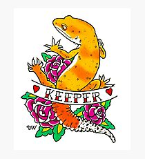 Keeper Leopard Gecko (Sunglow) Photographic Print