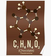 Chocolate molecule (Theobromine) Poster