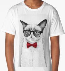 Cat Nerd Long T-Shirt