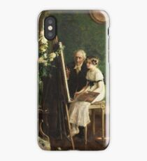 Jules-Alexis Muenier 1863-1942 FRENCH THE YOUNG ARTIST iPhone Case/Skin