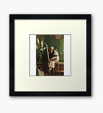 Jules-Alexis Muenier 1863-1942 FRENCH THE YOUNG ARTIST Framed Print