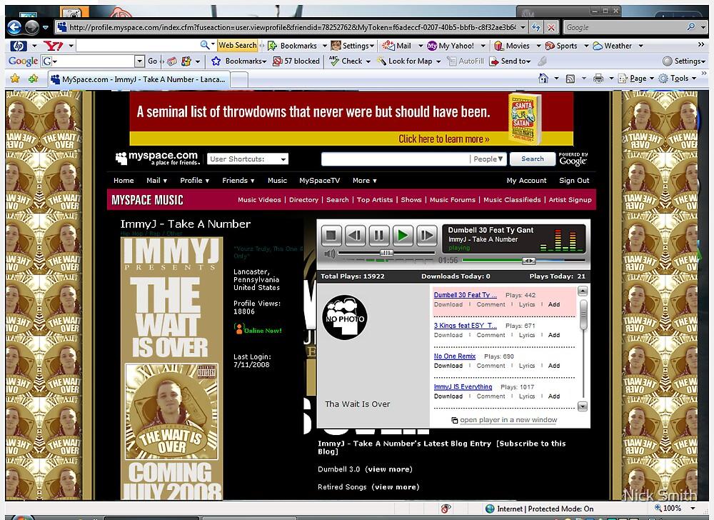 ImmyJ Myspace Layout by Nick Smith