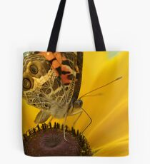 Lady on Yellow Tote Bag