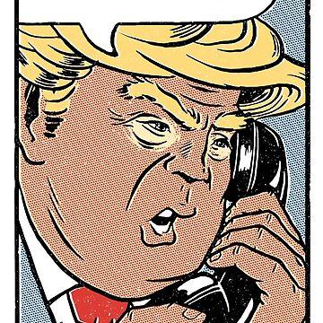 Donald Trump Pop Art: gefälschte Nachrichten! von vomaria
