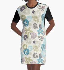 A Walk on the Beach Graphic T-Shirt Dress