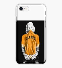 Marilyn Monroe For San Francisco Giants iPhone Case/Skin