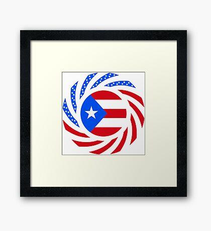 Puerto Rican American Multinational Patriot Flag Series Framed Print