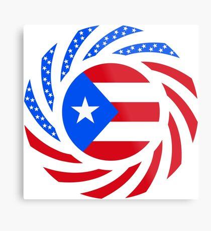 Puerto Rican American Multinational Patriot Flag Series Metal Print