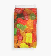 colorful sweet tooth foodie candy gummy bear  Duvet Cover