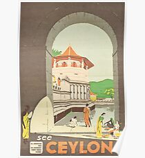 Vintage Travel Poster – See Ceylon Poster