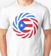Puerto Rican American Multinational Patriot Flag Series T-Shirt