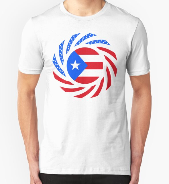 Puerto Rican American Multinational Patriot Flag Series by Carbon-Fibre Media