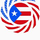 Puerto Rican American Multinational Patriot Flag Series by Carbon-Fibre Media