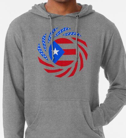 Puerto Rican American Multinational Patriot Flag Series Lightweight Hoodie
