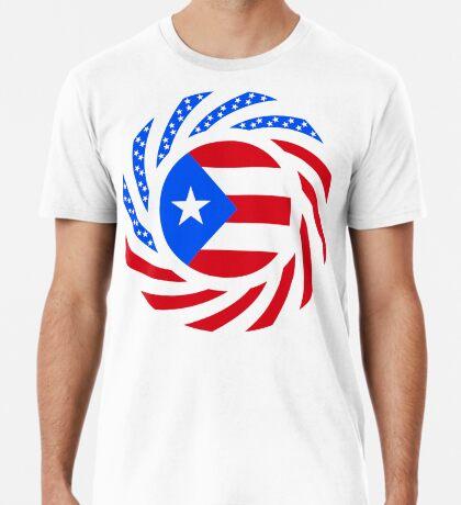 Puerto Rican American Multinational Patriot Flag Series Premium T-Shirt