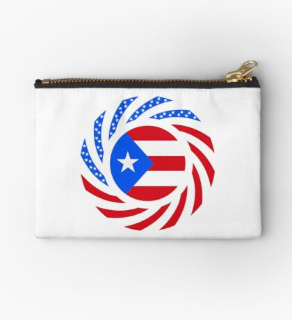 Puerto Rican American Multinational Patriot Flag Series Zipper Pouch