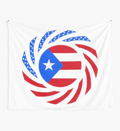 Puerto Rican American Multinational Patriot Flag Series Wall Tapestry