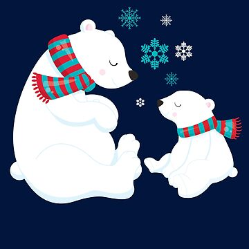 Polar bears, Ice bears - Girl, boy, toddler kid by STYLESYNDIKAT