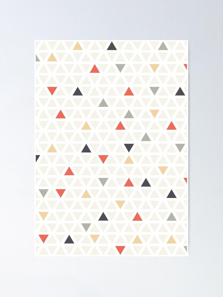 Alternative Ansicht von Geometrisches moderne Kunst Dreieck Poster