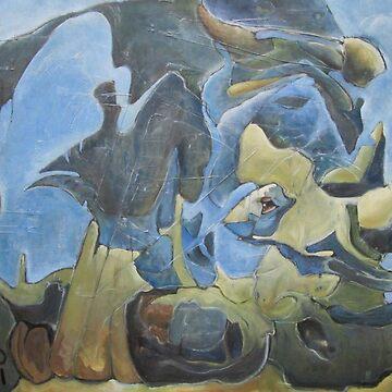 Rhino bleu by nancymathieu