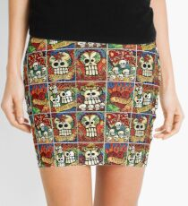 Day of the Dead Sugar Skulls Mini Skirt
