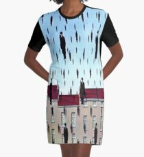 Golconda by  René Magritte Graphic T-Shirt Dress