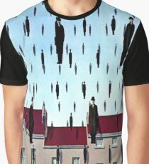 Golconda von René Magritte Grafik T-Shirt