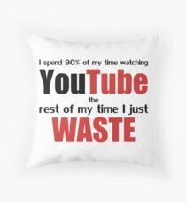 Watching YouTube Throw Pillow