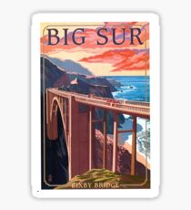 Vintage Travel Poster – Big Sur, California Sticker