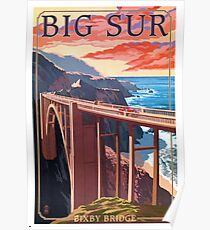 Vintage Travel Poster – Big Sur, California Poster