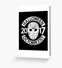Grunge Halloween Mask T-Shirt Perfect Gift Greeting Card