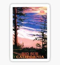Vintage Travel Poster – Big Sur, California Sticker