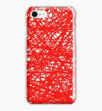 Vector Abstract Red Line Background. Grunge Red Line Pattern iPhone Case/Skin