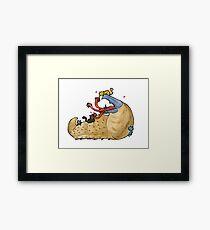 Graboids Love Kittens Framed Print