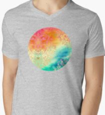 Watercolor Wonderland Mens V-Neck T-Shirt
