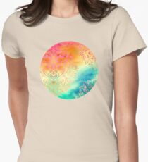 Watercolor Wonderland Womens Fitted T-Shirt