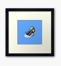 Classic Chuck Taylor Converse 8-bit Pixel Art Framed Print