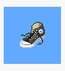 Classic Chuck Taylor Converse 8-bit Pixel Art Photographic Print