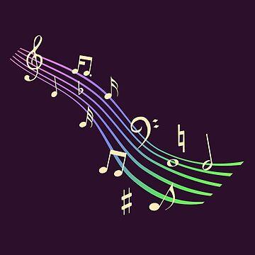 Musical rainbow by clockworkheart