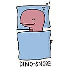 «Ilustración 'Dino-Snore'» de bloemsgallery