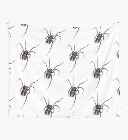 Red Back Spider Wall Tapestry