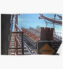 collar of the Empire Mine Headframe Poster