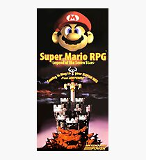 Super Mario RPG - Restored Nintendo Power Poster Photographic Print