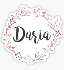 Daria | First Name in Pink Wreath Sticker