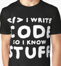 Programmers know stuff Graphic T-Shirt
