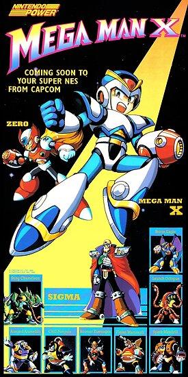 Mega Man X Restauriertes Nintendo Power Poster von 7hunters