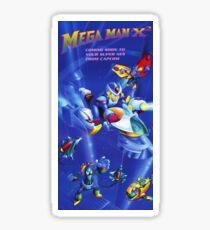 Mega Man X2 Nintendo Power Poster Fully Remastered Pixel by Pixel Sticker
